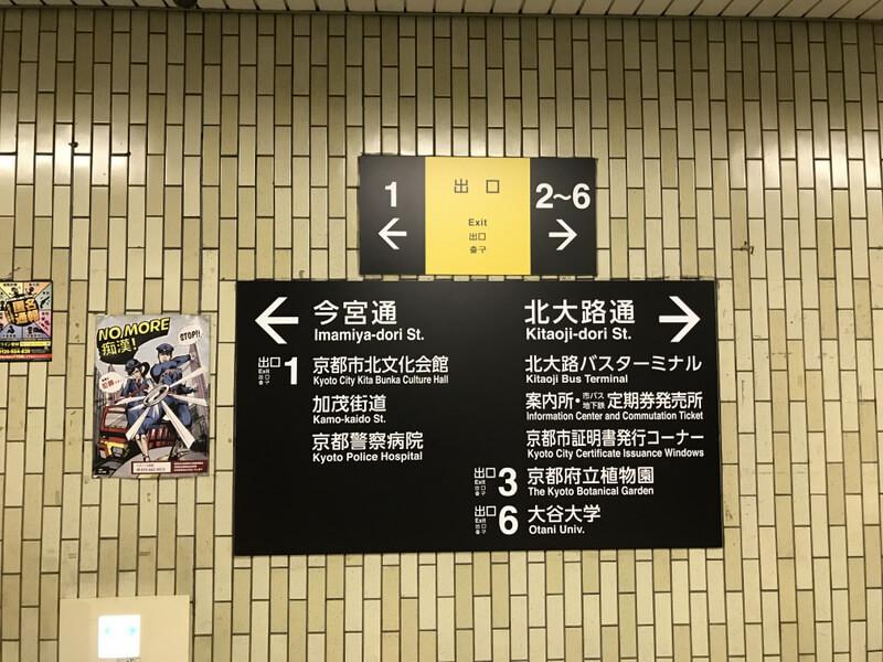 北大路駅の案内看板