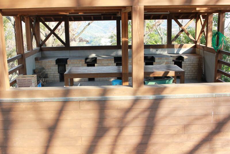 キャンプの炊事場