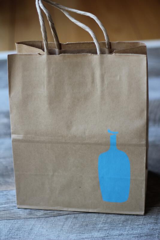 ブルーボトルコーヒーの紙袋