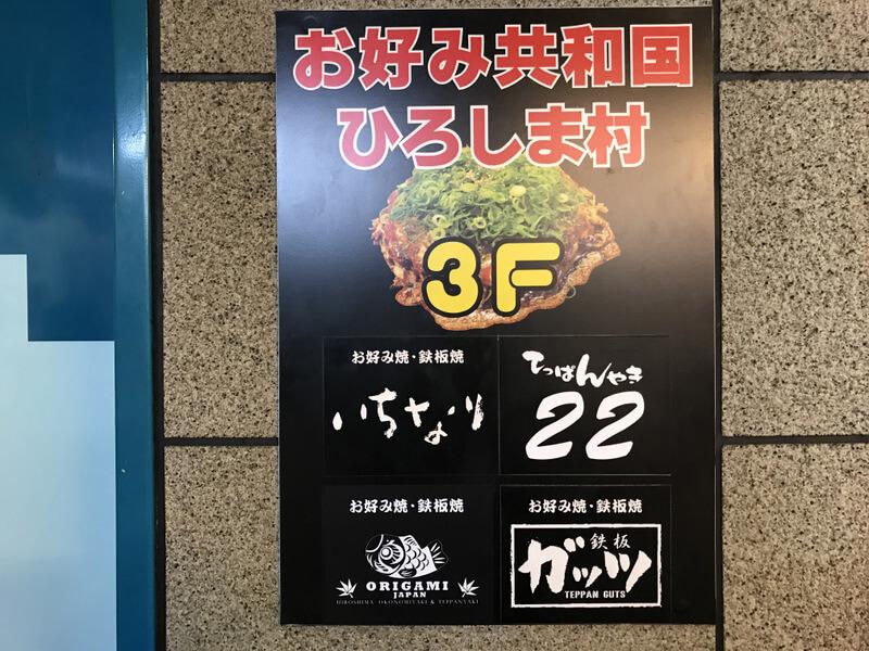 ひろしま村3階の看板