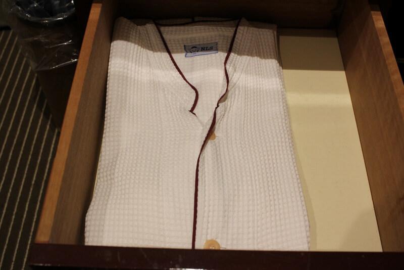 ホテルのパジャマ