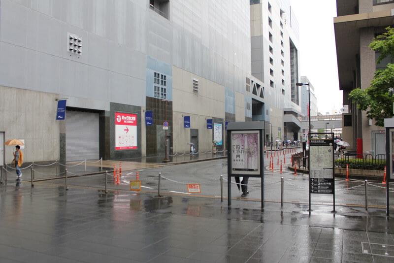 京都伊勢丹横の道
