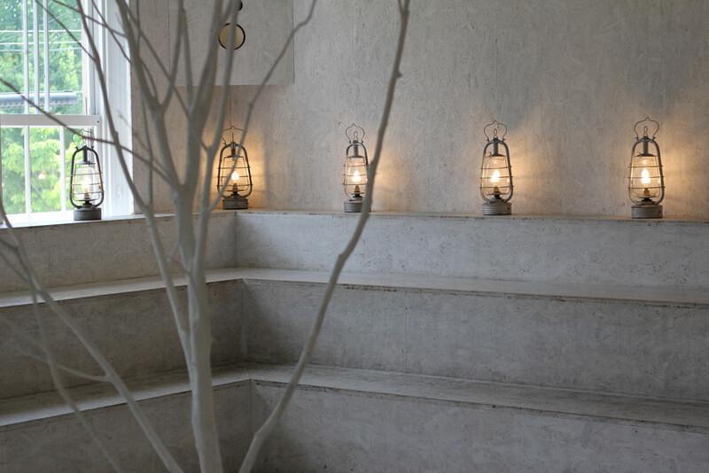 謎の木ごしのランプ