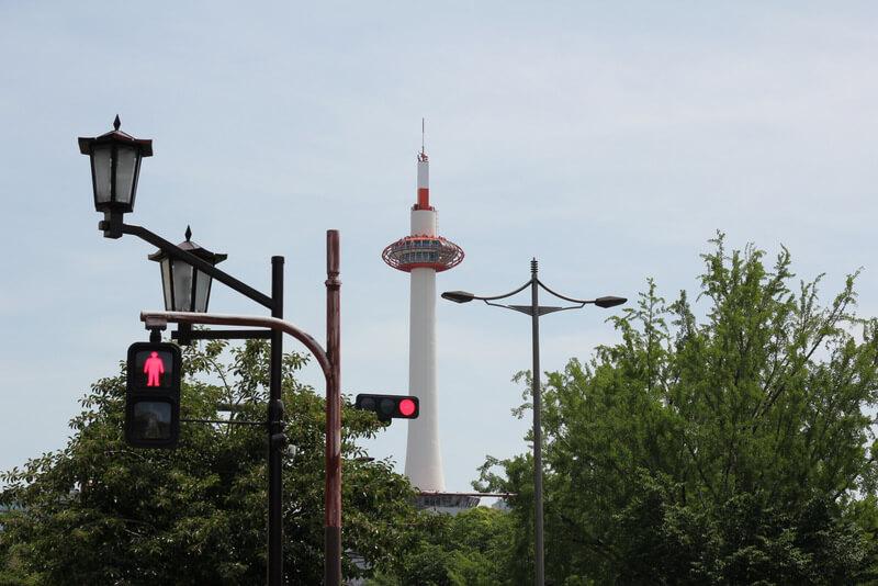 京都タワー北側から遠景