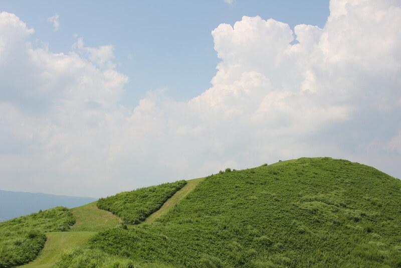パラグライダースポットの山