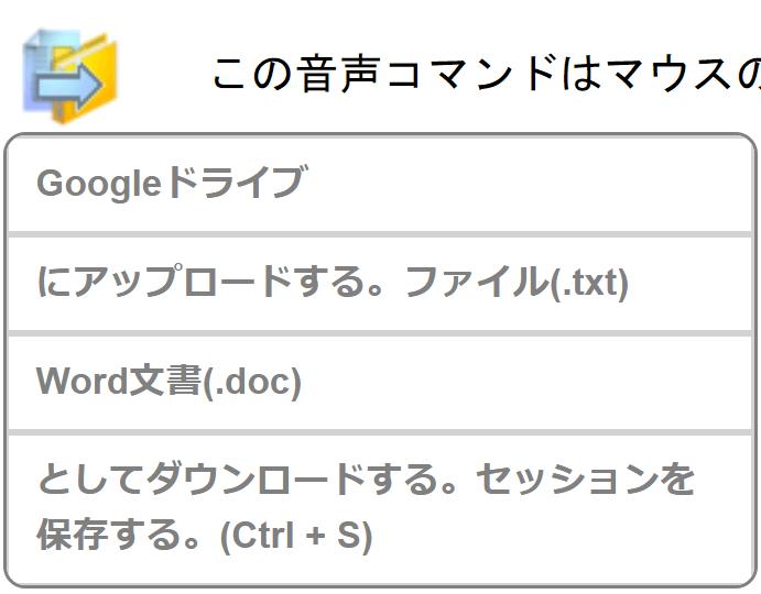 Googleドライブとの連携アイコン
