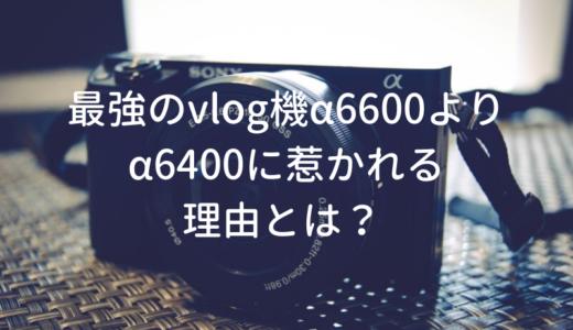 【vlogカメラ】本命はα6600だけどα6400に惹かれるたった1つの理由とは?