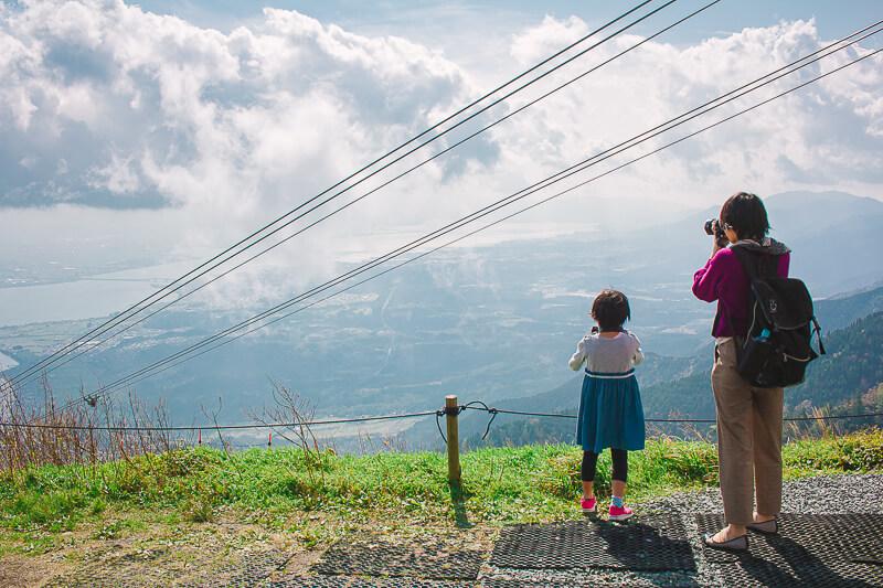 山頂駅付近から見られる絶景
