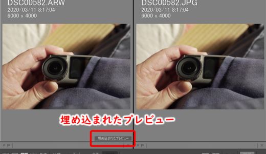 LR Rawとjpegが同じに見えるのはなぜ?埋め込まれたプレビューが原因  本来のRaw画像を表示させる方法