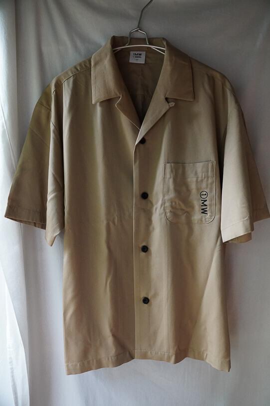 G.U.とSOPH.のコラボ オープンカラーシャツ5分袖 前